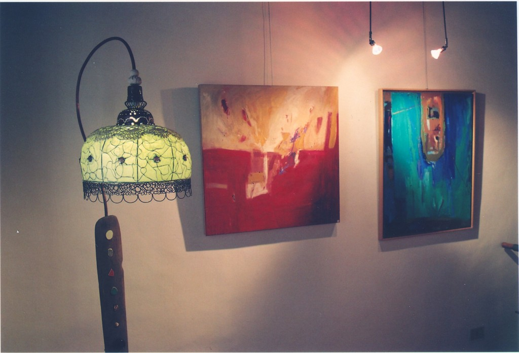 """Vernissage """"Blu sonoro oil on canvas"""""""